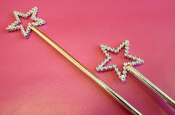 Princess wands - jubilee party bag ideas