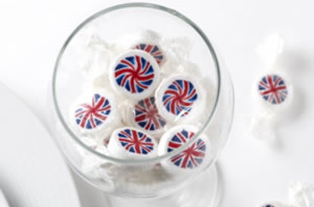 Union jack rock sweets - jubilee party