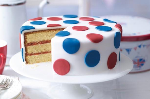 Polka dot Jubilee cake
