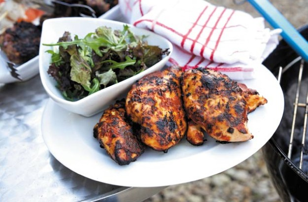 Barbecue tandoori chicken