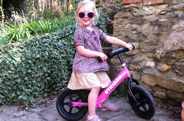 Florence on The Strider balance bike