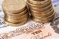 Give yourself a payrise money saver pound coins notes