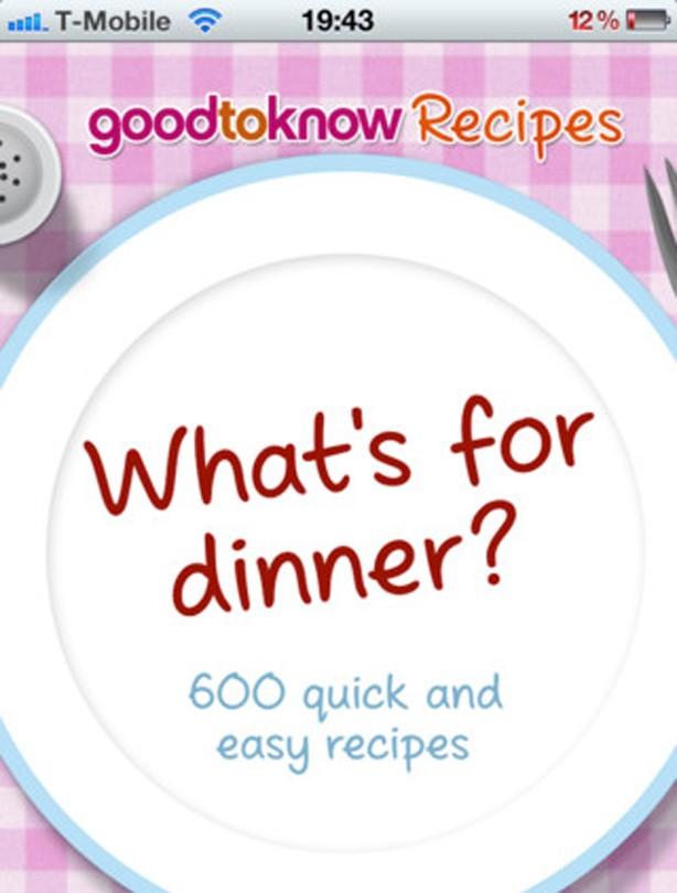 Whats for dinner app