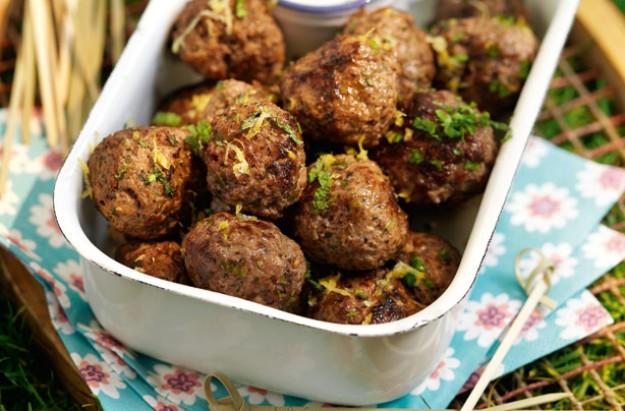 Zesty herbed picnic meatballs
