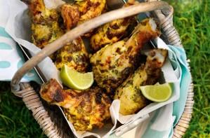 Green curry chicken drumsticks