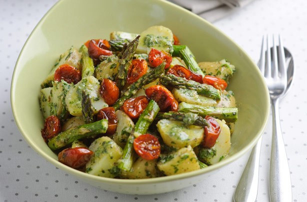 Minted Pesto British Asparagus and Potato Salad