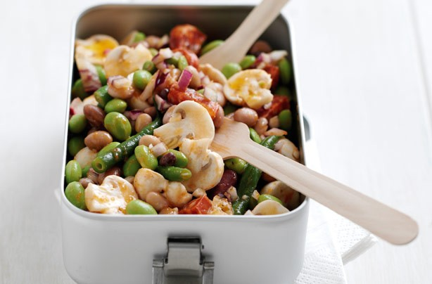Mushroom and Bean Salad