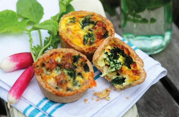 Spinach and Stilton tarts