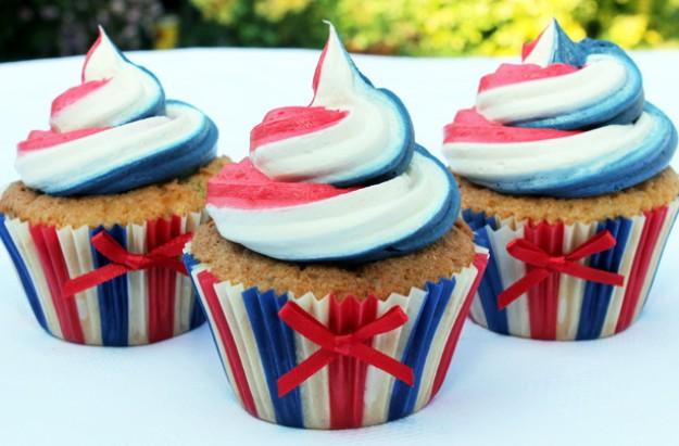 Jubilee swirl cupcakes