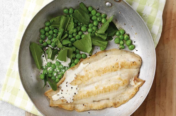 Use fresh herbs to flavour your dish. Here we use sorrel to add freshness and great taste to lemon sole. It is quick and easy to cook.