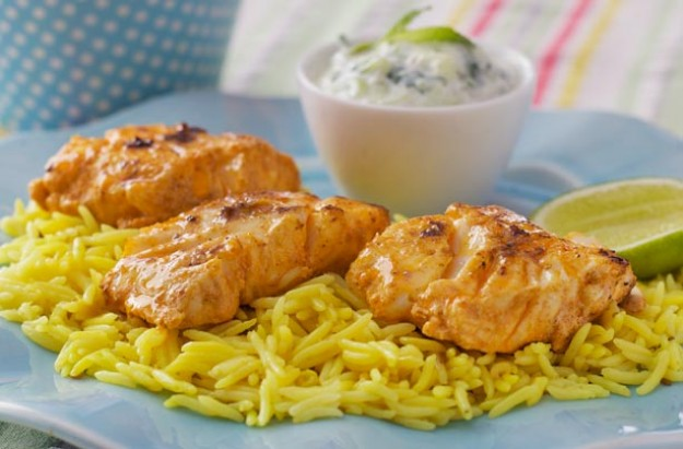 15 minutes is alll it takes to prepare this delicious spicy tandoori fish. Serve it with rice and salad for a complete meal.