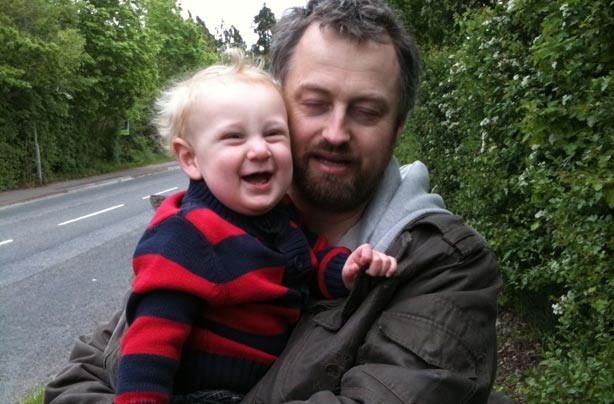 Kirsty's little boy and his dad