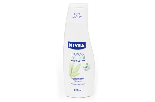 Body lotion: Nivea pure and natural body lotion