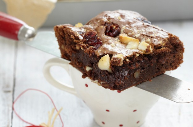 White Choc Cranberry Brownie