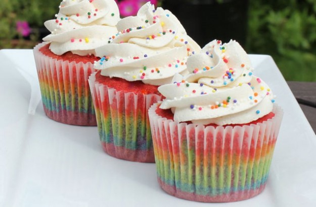 victoria rainbow cupcakes