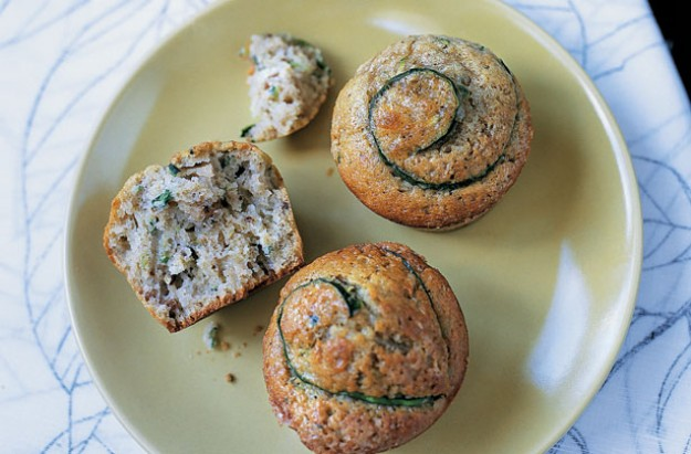 Courgette muffins