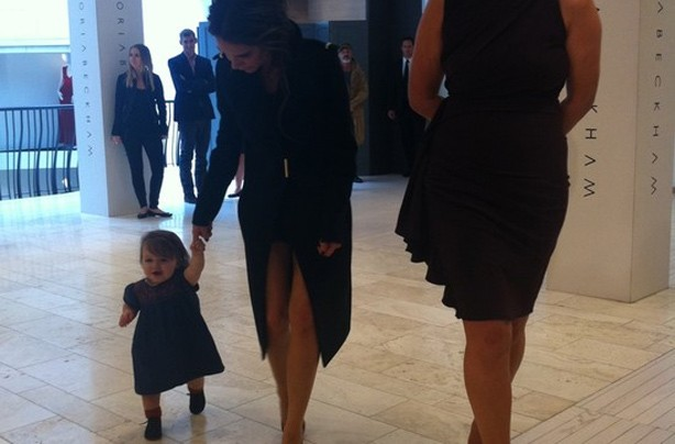 Harper Beckham walking