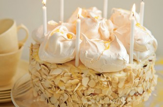 Lemon meringue birthday cake
