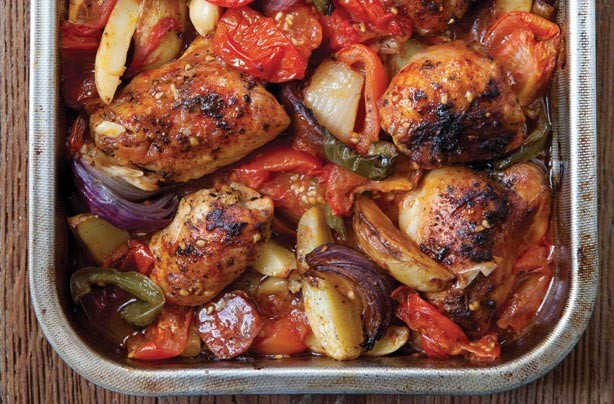 Hairy Bikers' Spanish-style chicken bake