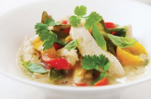 Photo: very easy Thai chicken and coconut curry