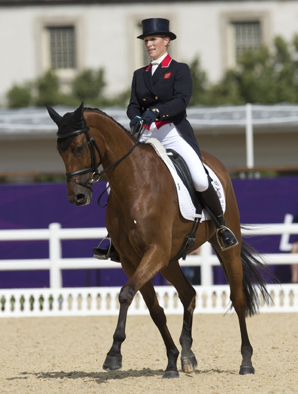 Zara Phillips' first Olympics competition