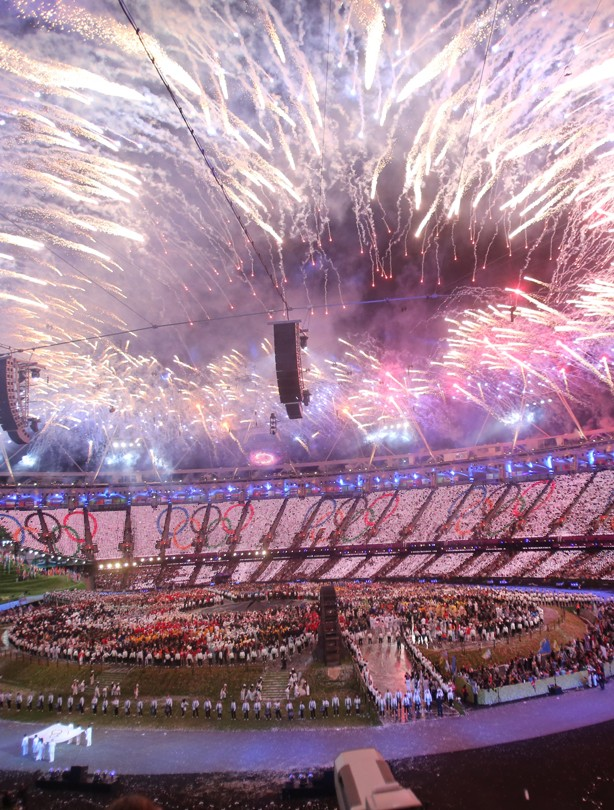 Olympics opening ceremony fireworks