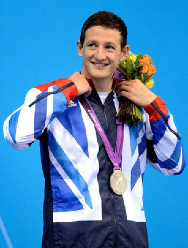 Michael Jamieson gets a silver medal