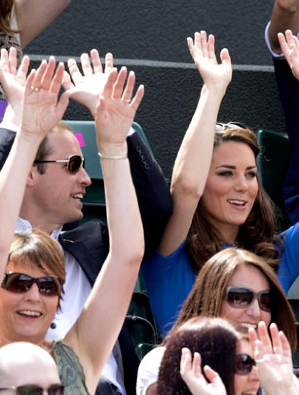 Kate and Will - Mexican wave