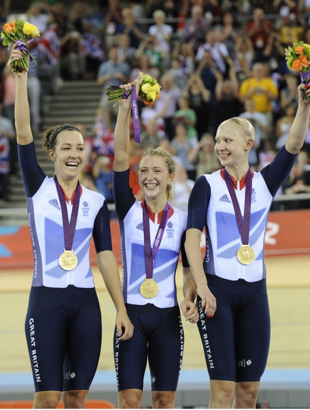 Dani King, Laura Trott and Joanna Rowsell