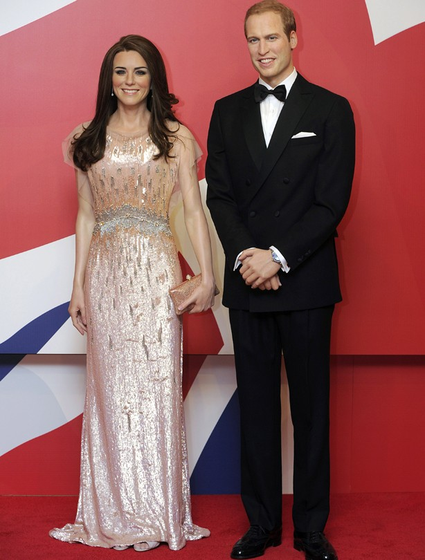 Kate and William waxwork