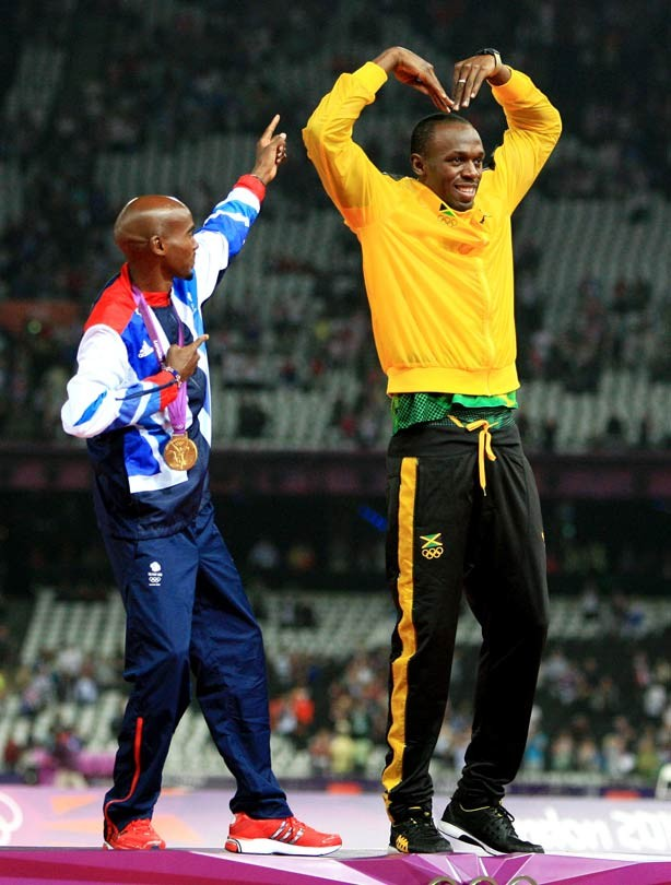 Mo Farah and Usain Bolt Gold Medallists