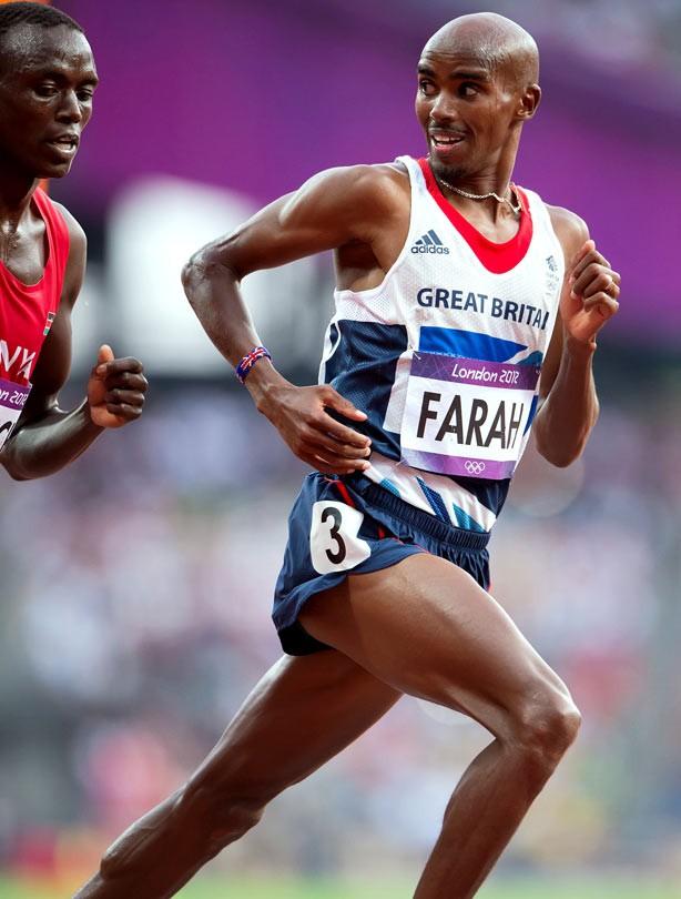 Mo Farah wins mens' 5000m Olympic Gold