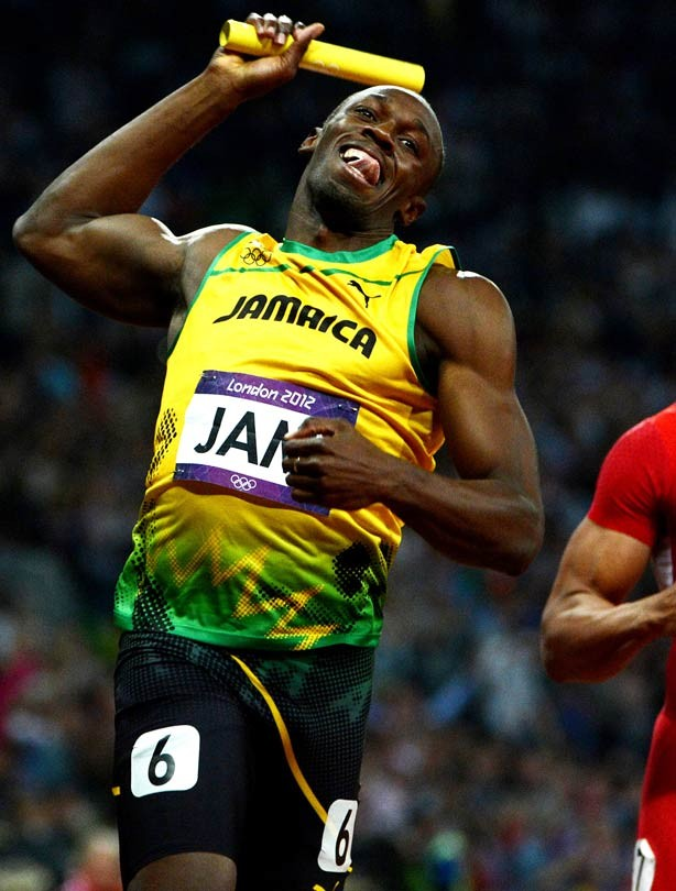 Usain Bolt wins mens 4x100m relay