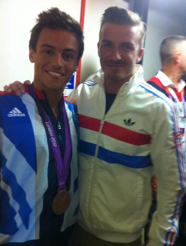Tom Daley and David Beckham