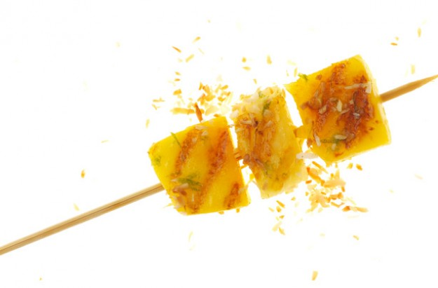 Mango and pineapple skewers