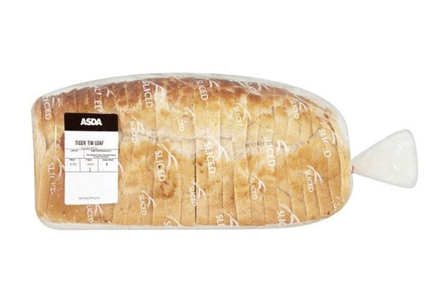 Asda sliced tiger bread