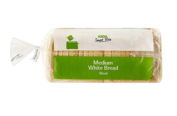 Asda smart price medium sliced white bread