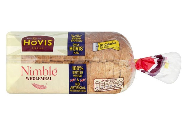 Hovis nimble wholemeal bread