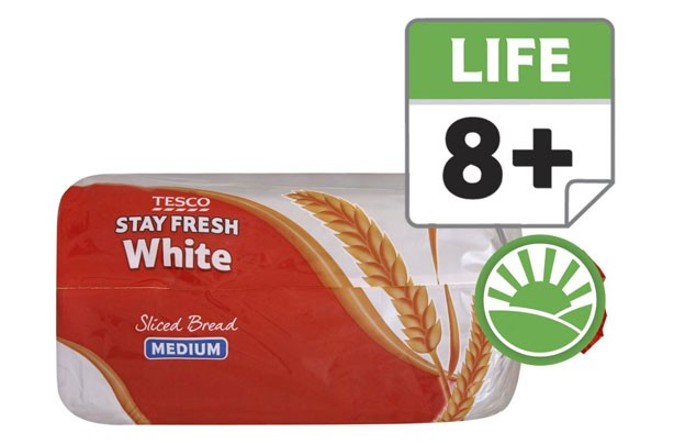 Tesco stay fresh white bread medium