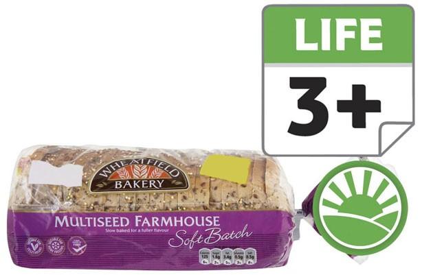 Wheatfield bakery soft multiseed bread sliced