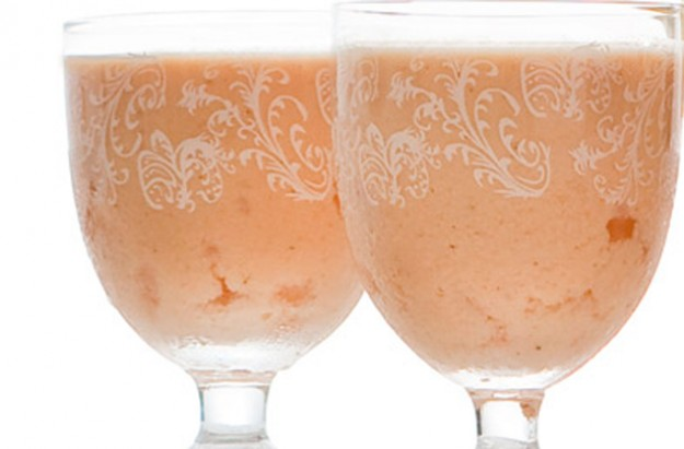 Papaya lassi yogurt drink