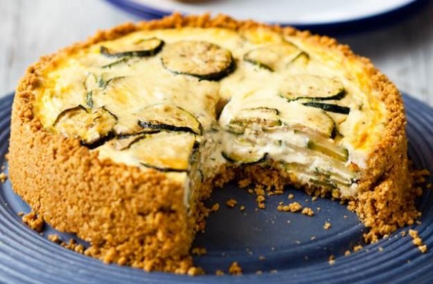oaty crust courgette quiche