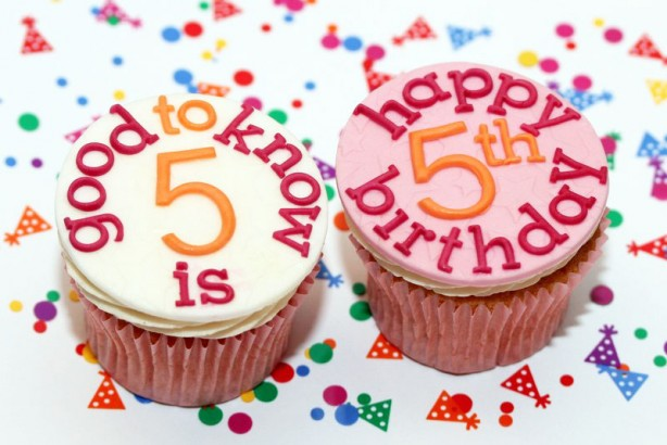 goodtoknow's 5th birthday cupcakes