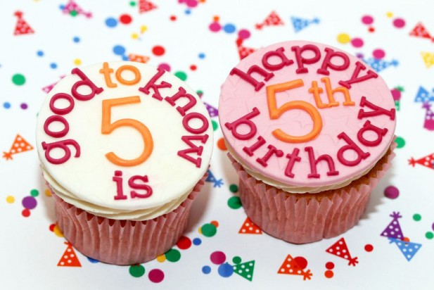 goodtoknow's 5th birthday cupcakes