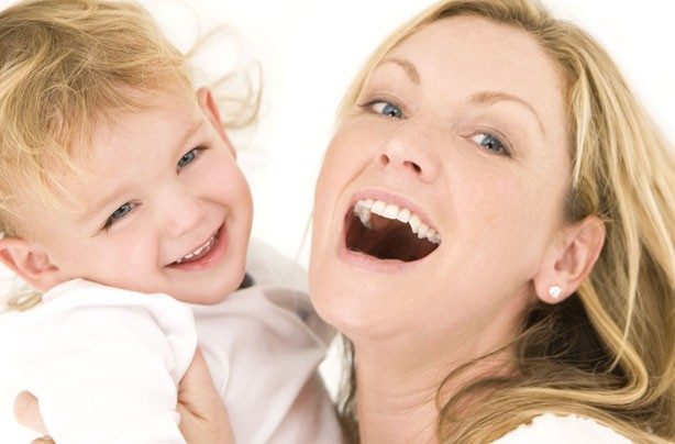 mum and child laughing