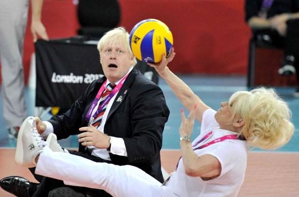 boris johnson and barbara windsor paralympics
