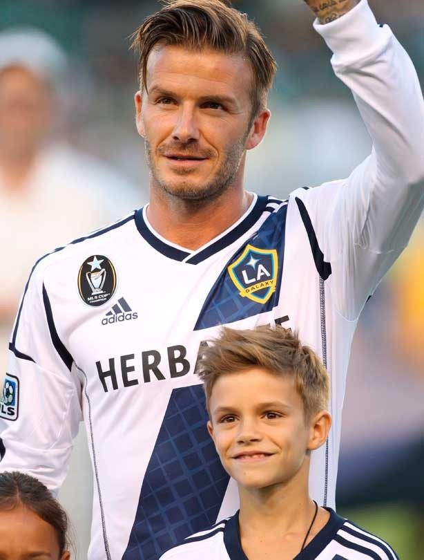 David Beckham with his son, Romeo Beckham