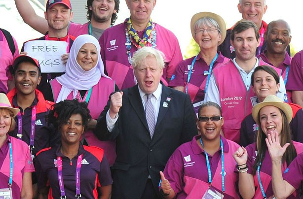 Boris Johnson and the Paralympic volunteers
