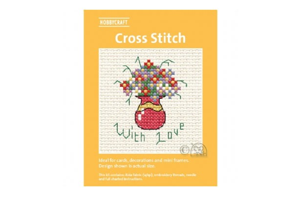 Brighten up your home for a fiver - cross stitch