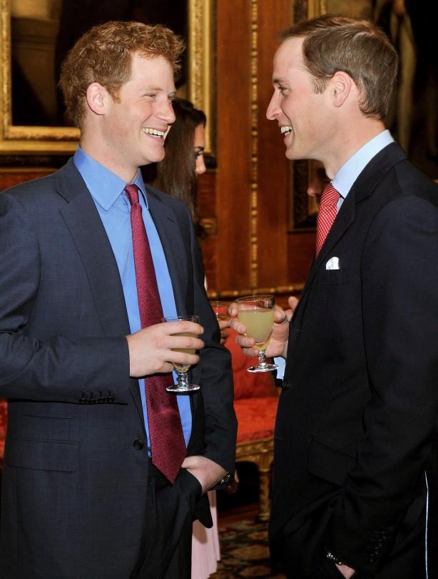 Royal brothers sharing a joke